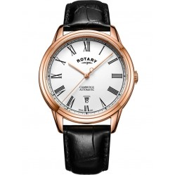 Rotary Mens Rose Gold Plated Cambridge Watch GS05252/01