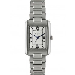 Rotary Mens Stainless Steel White Dial Watch GB02650-01
