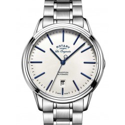 Rotary Mens Tradition Stainless Steel Auto Bracelet Watch GB90161/02