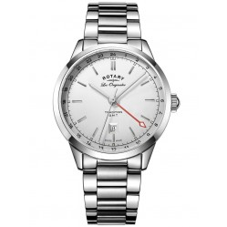 Rotary Mens Silver Watch GB90181/02