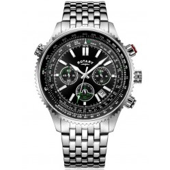 Rotary Mens Aviation Bracelet Watch GB00699/10