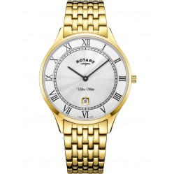 Rotary Mens Gold Plated Ultra Slim Watch GB08303/01