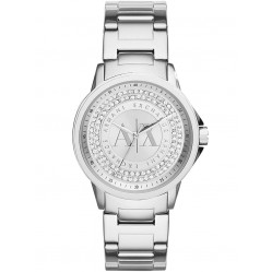 Armani Exchange Ladies Silver Stone Dial Bracelet Watch AX4320