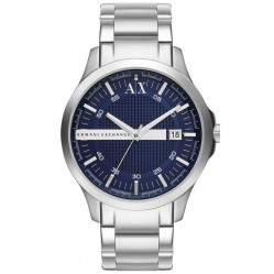Armani Exchange Mens Silver Blue Dial Bracelet Watch AX2132