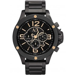 Armani Exchange Mens Black Chronograph Bracelet Watch AX1513