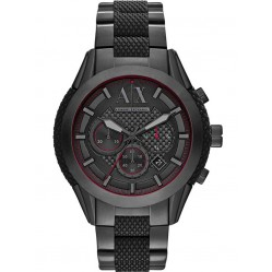 Armani Exchange Mens Black Chronograph Bracelet Watch AX1387
