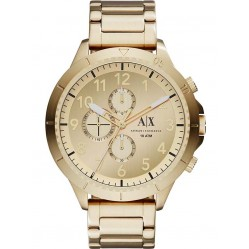 Armani Exchange Mens Aeroracer Gold Watch AX1752