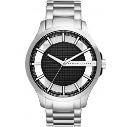 Armani Exchange Mens Silver Black Dial Bracelet Watch AX2179