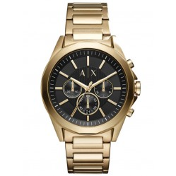 Armani Exchange Mens Gold-Plated Chronograph Bracelet Watch AX2611