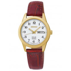 Seiko Ladies Solar Powered Red Watch SUT196P1