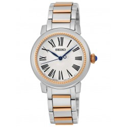 Seiko Ladies Two Tone Rose Watch SRZ448P1
