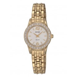 Seiko Discover More Solar Gold Plated Bracelet Watch SUP128P9