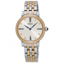 Seiko Discover More Two Tone Bracelet Watch SFQ816P1