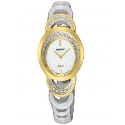 Seiko Ladies Two Tone Solar Watch SUP296P1
