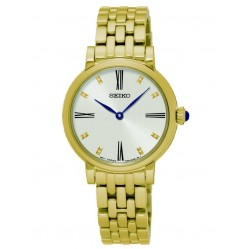 Seiko Discover More Gold Plated Bracelet Watch SFQ814P1