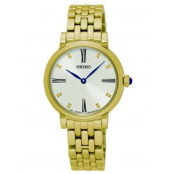 Seiko Ladies Gold Plated Bracelet Watch SFQ814P1