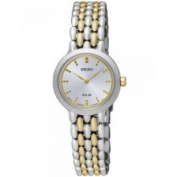 Seiko Ladies Discover More Solar Two Tone Bracelet Watch SUP349P1