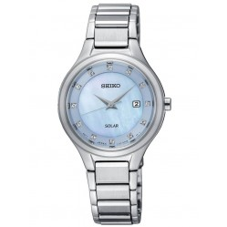 Seiko Ladies Discover More Solar Blue Bracelet Watch SUT351P9