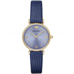 Emporio Armani Ladies Blue Strap Watch AR1875