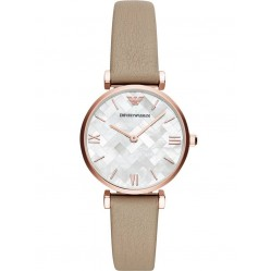 Emporio Armani Ladies Rose Tone Strap Watch AR11111