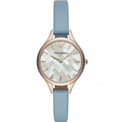 Emporio Armani Ladies Rose Tone Strap Watch AR11109