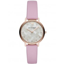 Emporio Armani Ladies Kappa Rose Gold Plated Lilac Strap Watch AR11130