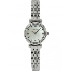 Emporio Armani Stainless Steel Round Mother of Pearl Dial Bracelet Watch AR1688