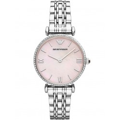 Emporio Armani Ladies Pink Mother of Pearl Watch AR1779