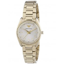 Emporio Armani Ladies Gold Plated Bracelet Watch AR6031