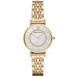 Emporio Armani Ladies Gold Plated Watch AR1907