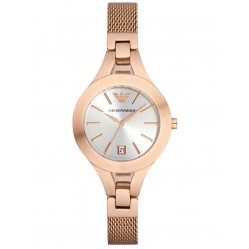 Emporio Armani Ladies Rose Gold Plated Watch AR7400