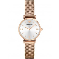 Emporio Armani Ladies T Bar Rose Gold Plated Bracelet Watch AR1956