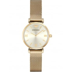 Emporio Armani Ladies T Bar Gold Plated Bracelet Watch AR1957