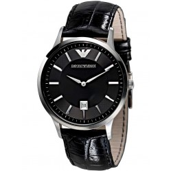 Emporio Armani Mens Leather Strap Watch AR2411
