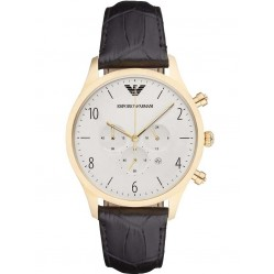 Emporio Armani Mens Chronograph Strap Watch AR1892
