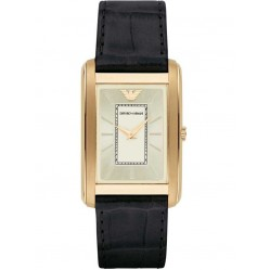 Emporio Armani Mens Rectangular Strap Watch AR1902