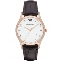 Emporio Armani Mens Leather Strap Watch AR1915
