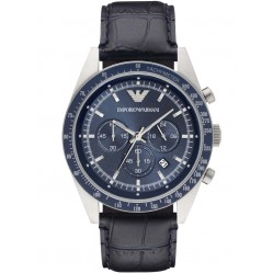 Emporio Armani Mens Blue Strap Watch AR6089