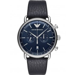 Emporio Armani Mens Chronograph Strap Watch AR11105