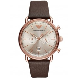 Emporio Armani Rose Gold Plated Chronograph Watch AR11106