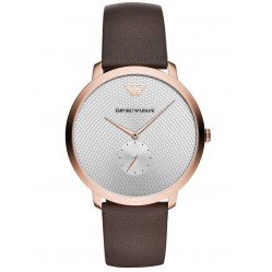 Emporio Armani Mens Slim Rose Gold Plated Strap Watch AR11163