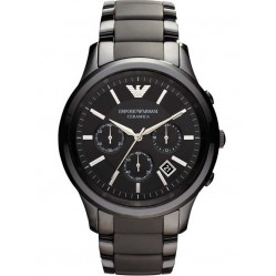 Emporio Armani Mens Black Ceramic Watch AR1452