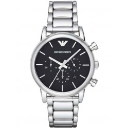 Emporio Armani Men's Black Dial Watch AR1853