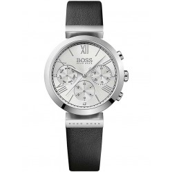Hugo Boss Ladies Black Leather Strap Watch 1502395