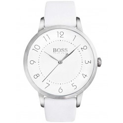 Hugo Boss Ladies White Leather Strap Watch 1502409