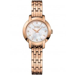 Hugo Boss Ladies Rose Gold Plated Bracelet Watch 1502379