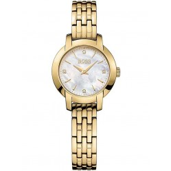 Hugo Boss Ladies Gold Plated Bracelet Watch 1502381