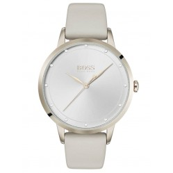 BOSS Ladies Twilight Grey Leather Strap Watch 1502461