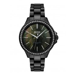 BOSS Ladies Victoria Black Ceramic Bracelet Watch 1502456
