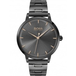 BOSS Ladies Marina Black Dial Bracelet Watch 1502503